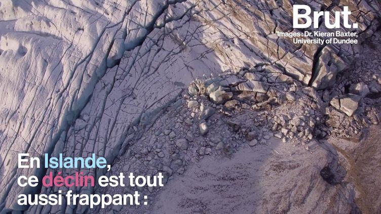 VIDEO. Avec des photos avant/après, il montre le déclin massif des glaciers (BRUT)