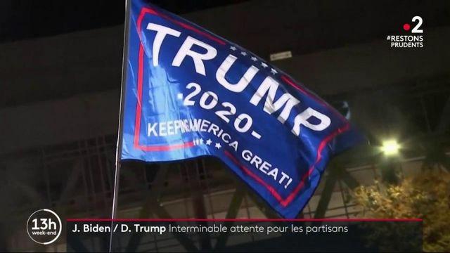 Présidentielle américaine : une attente interminable pour les partisans