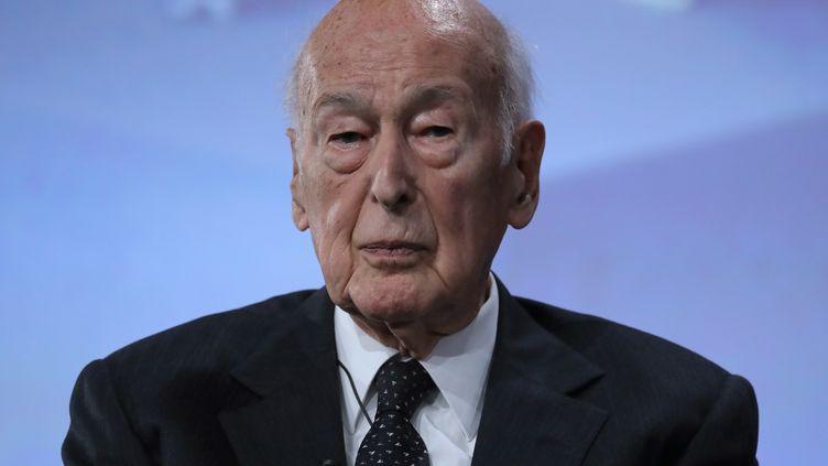 L'ancien président Valéry Giscard d'Estaing, le 20 juin 2019, à Paris. (JACQUES DEMARTHON / AFP)