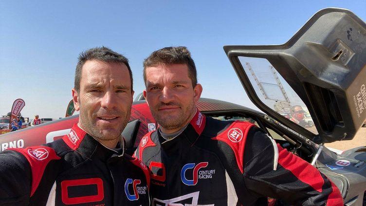 Mathieu Serradori (à gauche) va devoir se séparer de son copilote Fabian Lurquin (à droite) qui fera désormais équipe avec Sébastien Loeb. (Team SRT)