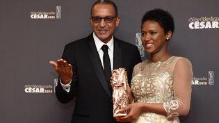 "Abderrhamane Sissako et sa femmeKessen Tall, coscénaristes de ""Timbuktu"", le 20 février 2015. (MARTIN BUREAU / AFP)"