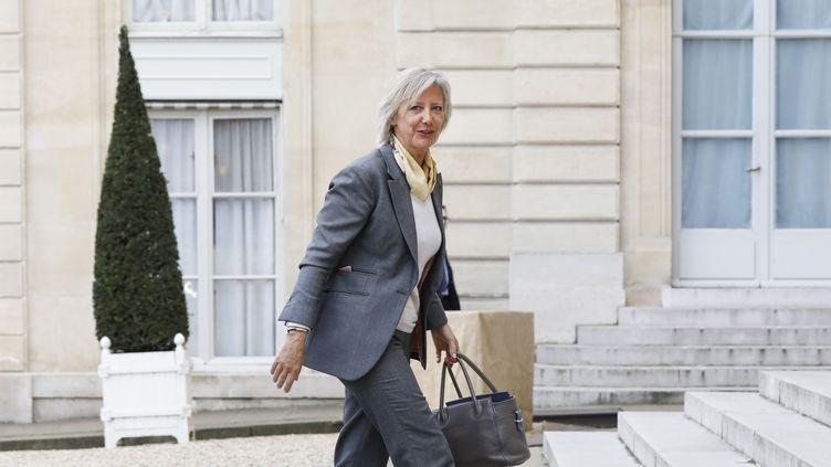 La secrétaire d'Etat chargée des personnes handicapées, Sophie Cluzel, le 25 avril 2019 à l'Elysée, à Paris. (LAURE BOYER / HANS LUCAS / AFP)