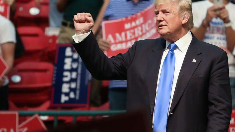 Donald Trump à Concord, en Caroline du Nord, le 3 novembre. (LOGAN CYRUS / AFP)