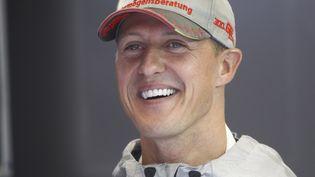 Michael Schumacher lors du grand prix de Belgique, en août 2012. (FREDERIC LE FLOC H / DPPI MEDIA / AFP)