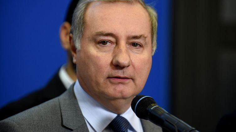 Jean-Luc Moudenc, maire (LR) de Toulouse, réélu dimanche 28 juin 2020. (ERIC PIERMONT / AFP)