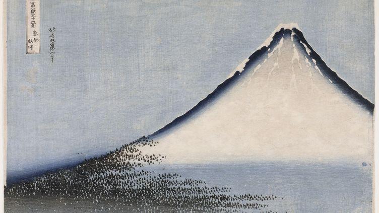 """Fuji bleu"", Katsushika Hokusai, 1831 (RMN-Grand Palais (MNAAG, Paris) / Thierry Ollivier)"