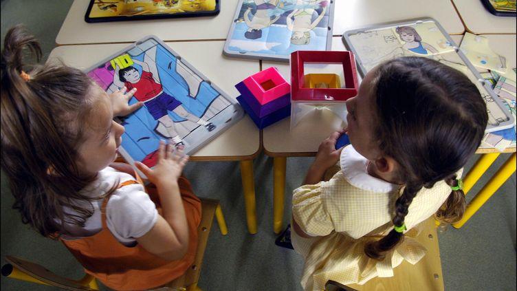 Des enfants dans une école de Nancy (Meurthe-et-Moselle), le 2 septembre 2005. (FRANCIS DEMANGE / GAMMA-RAPHO / AFP)