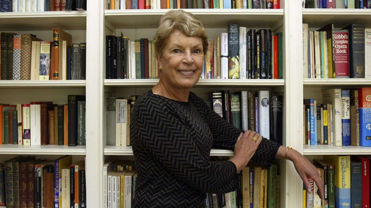 Ruth Rendell chez elle à Londres, en 2005.  (ANE MINGAY/NBC/AP/SIPA)