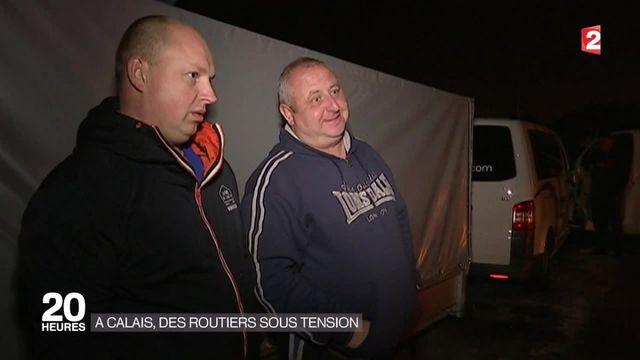 Le stress des chauffeurs routiers à Calais