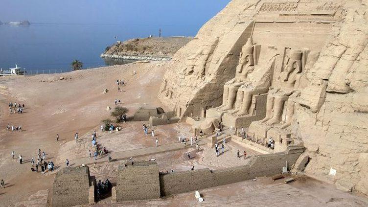 Le temple de Ramsès II, sur le lac Nasser à Abou Simbel (Egypte). (Jacques Sierpinski / Aurimages / Jacques Sierpinski / Aurimages)