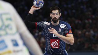 NikolaKarabatic lors du mondial de handball, le 26 janvier 2017 à Paris. (THOMAS SAMSON / AFP)