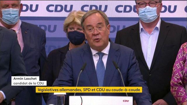 Elections allemandes : le candidat de la CDU, Armin Laschet, réagit après les premiers résultats