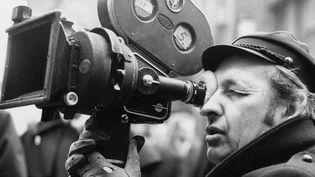 "Andrzej Wajda sur le tournage de ""La Terre de la grande promesse"", le 1er janvier 1974  (Andrzej Zbraniecki / PAP / EFE / Newscom / MaxPPP)"