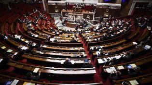 Manuel Valls à l'Assemblée nationale lors de la présentation du projet de réforme constitutionnelle, le 5 février 2016. (LIONEL BONAVENTURE / AFP)