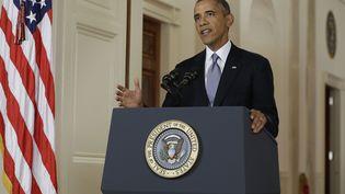 Le président des Etats-Unis, Barack Obama, le 10 septembre 2013, lors d'une allocution depuis la Maison Blanche. (EVAN VUCCI / AFP)