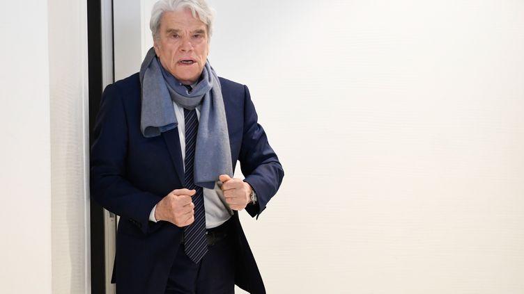 L'homme d'affaires Bernard Tapie au palais de justice de Paris, le 4 avril 2019. (BERTRAND GUAY / AFP)