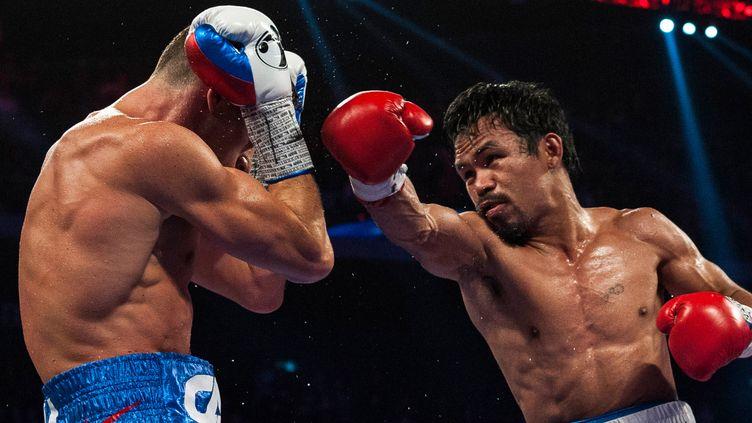 Manny Pacquiao a gardé son bien face à Chris Algieri (XAUME OLLEROS / AFP)