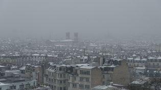 Une vague de neige et de froid balaye vendredi 9 février le nord et le centre de la France. (SAMUEL BOIVIN / CROWDSPARK)