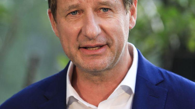 Yannick Jadot, candidat écologiste à la primaire en vue de l'élection présidentielle 2022, le 19 septembre 2021 à Paris. (SAMEER AL-DOUMY / AFP)