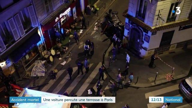 Paris : une voiture percute une terrasse à Paris, la piste de l'accident est privilégiée
