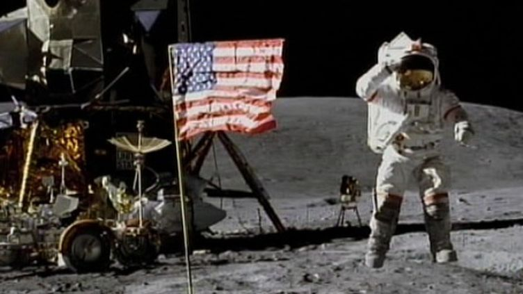 Buzz Aldrin en 1969 lors de la mission Apollo XI (FTV)
