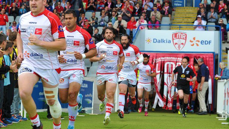 L'entrée des joueurs de Lille  (THOMAS LO PRESTI / MAXPPP)