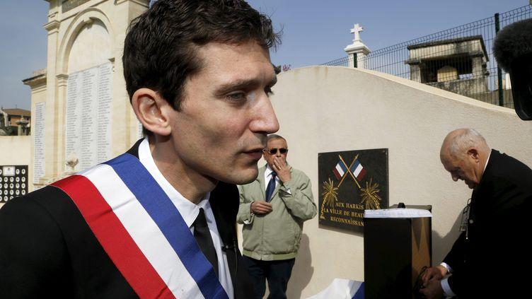 Le maire FN Julien Sanchez, le 18 mars 2015, à Beaucaire (Gard). (MAXPPP)