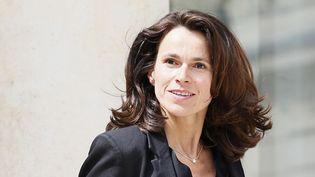 La ministre de la Culture Aurélie Filippetti dans la cour de l'Elysée, le 16 juillet 2014.  (Patrick Kovarik / AFP)