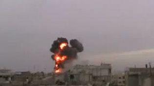 Bombardement du quartier de Baba Amr, à Homs, le 13/02/2012 (AFP/YOU TUBE)