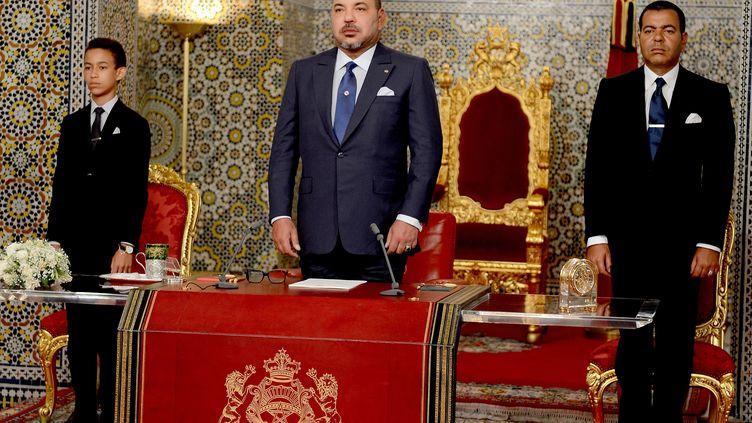 Le roi du Maroc, Mohammed VI, le 20 août 2015 àTétouan (Maroc). (MOROCCAN ROYAL PALACE / AFP)