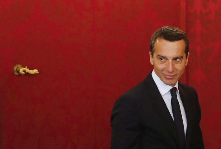 Le nouveau chancelier Christian Kern, un social-démocrate, a été investi le 17 mai 2016, à Vienne (Autriche). (HEINZ-PETER BADER / REUTERS)