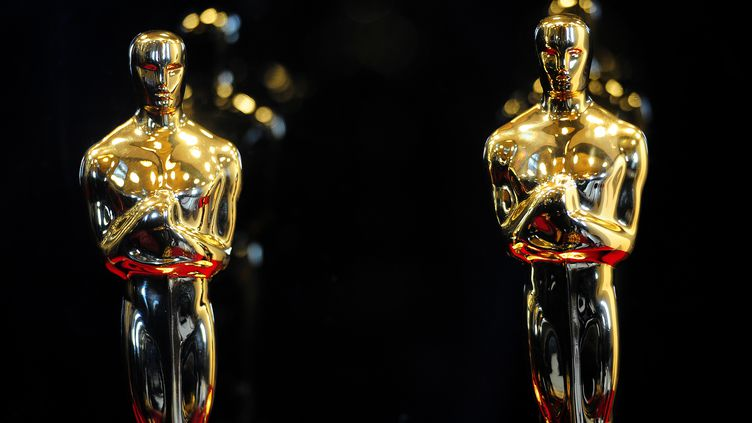 Des Oscars exposés à New York, le 22 février 2012. (EMMANUEL DUNAND / AFP)