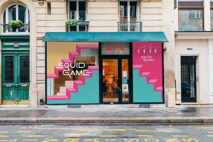 Café éphémère Squid Game, événement Netflix, le 2 et le 3 octobre à Paris (NETFLIX)