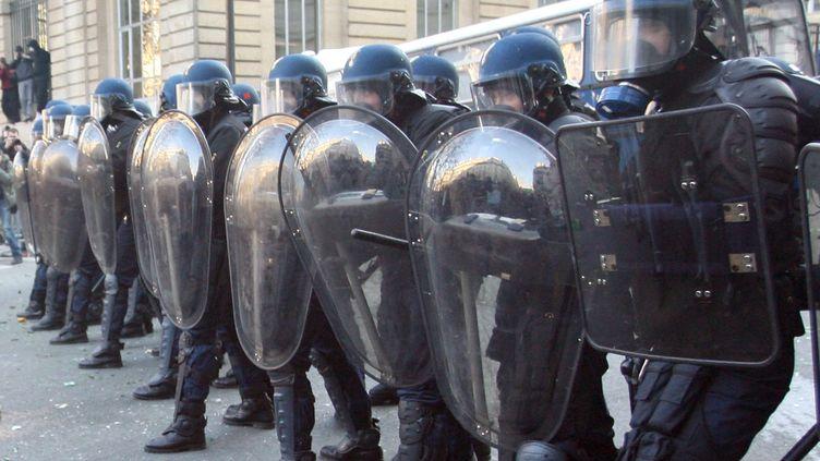 6 000 policiers et gendarmes mobilisés à Paris, le 5 décembre 2019. (THOMAS COEX / AFP)