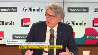 Thierry Breton était l'invité de franceinfo dimanche 9 mai. (FRANCEINFO / RADIOFRANCE)