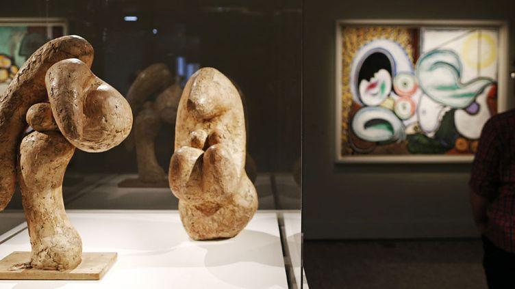 """Vue de l'exposition """"Boisgeloup, l'atelier normand de Picasso"""" au musée des Beaux-Arts de Rouen (du 1er avril au 11 septembre 2017)  (Charly Triballeau / AFP)"""