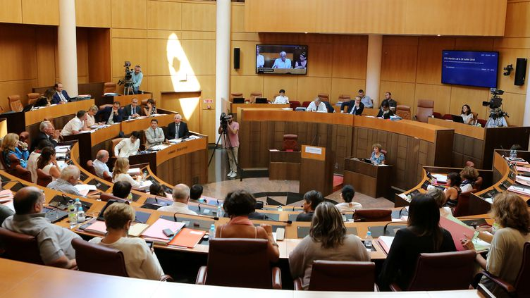 L'actuelle assemblée de Corse, qui fera place à la collectivité territoriale unique désignée dimanche 3 et 10 décembre 2017. (MAXPPP)