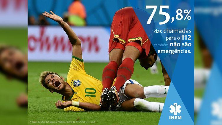 L'affichedes services de secours portugais. (INEM / FACEBOOK)