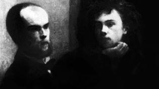 """Paul Verlaine et Arthur Rimbaud, tiré d'un tableau de Fantin-Latour : """"Le coin de table"""". (AFP / AFP)"""