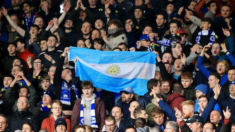 Des supporters lors du match entreSouthampton et Cardiff City, le 9 février 2019 à Southampton, en Grande-Bretagne. (MAXPPP)