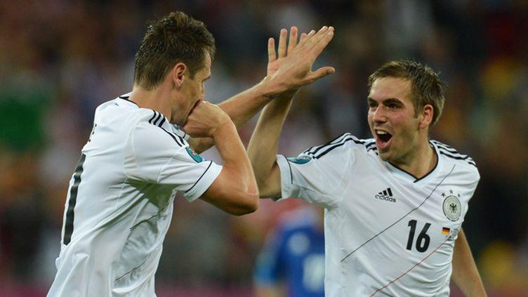 Klose et Lahm (Allemagne) heureux