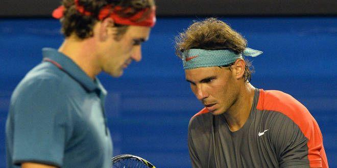 Federer et Nadal concentrés