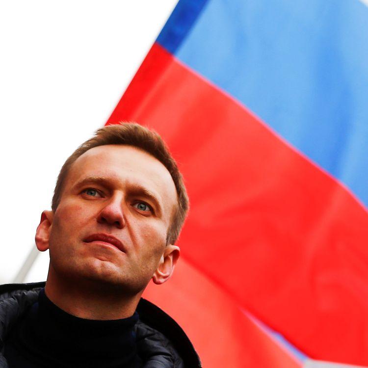Alexeï Navalny lors d'une manifestation en mémoire de l'opposant Boris Nemtsov, à Moscou (Russie), le 24 février 2019. (SEFA KARACAN / ANADOLU AGENCY)