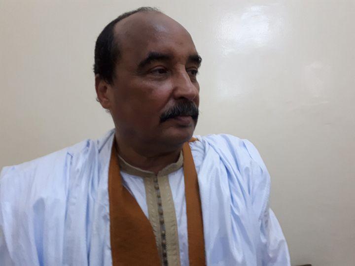 Le président mauritanien Mohamed Ould Abdel Aziz en novembre 2018. (CLAUDE GUIBAL / FRANCE-INFO)