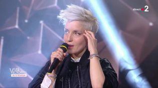 La chanteuse Jeanne Added, le 8 février 2019 aux Victoires de la Musique. (FRANCE 2)