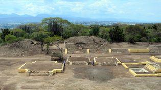Temple dédié à Xipe Totec, zone archéologique de Ndachjian-Tehuacán, dans l'Etat de Puebla au Mexique.  (Meliton TAPIA / INAH / AFP)