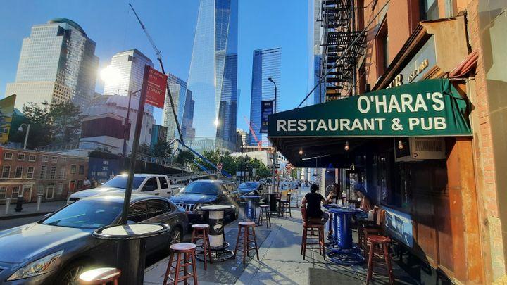 Le O'Hara's, sur Cedar Street, dans le quartier de Ground Zero. (BENJAMIN ILLY / RADIO FRANCE)