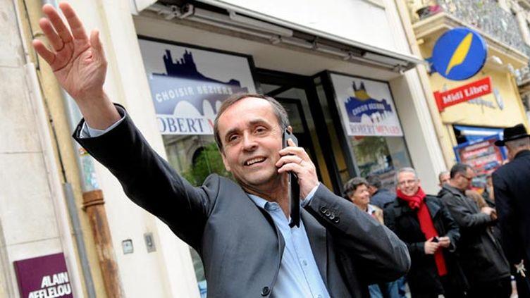 (© Maxpp - Robert Ménard, tout juste élu maire de Béziers, ville du languedoc-Roussilon)