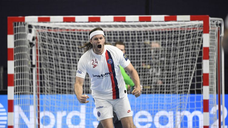Mikkel Hansen, joueur du Paris Saint-Germain (INA FASSBENDER / AFP)