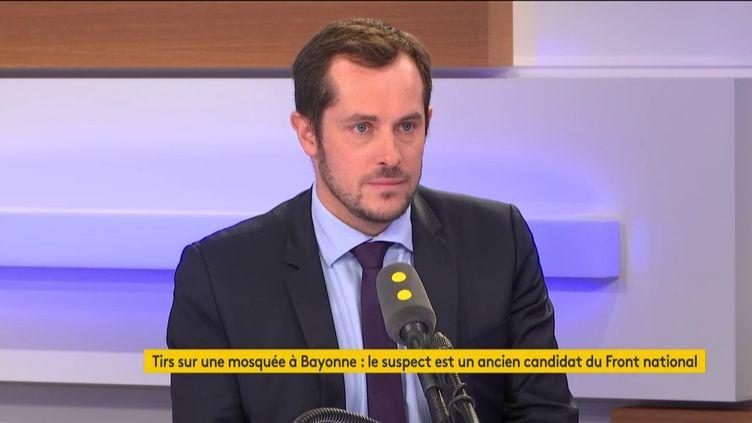 Nicolas Bay, eurodéputé et membre du Rassemblement national le 28 octobre 2019 sur franceinfo. (RADIO FRANCE / FRANCEINFO)